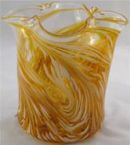 """Ice Bucket in Gold"" by Mark Rosenbaum, Rosetree Glass"