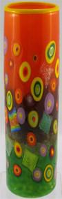 """Skinny Cylinder Vase in Citrus"" by Michael Maddy & Rina Fehrensen, Mad Art Studio"