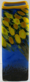 """Small Square Vase in Lemon Tree"" by Michael Maddy & Rina Fehrensen, Mad Art Studio"