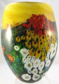 """Tall Landscape Vase in Yellow""by Shawn Messenger"