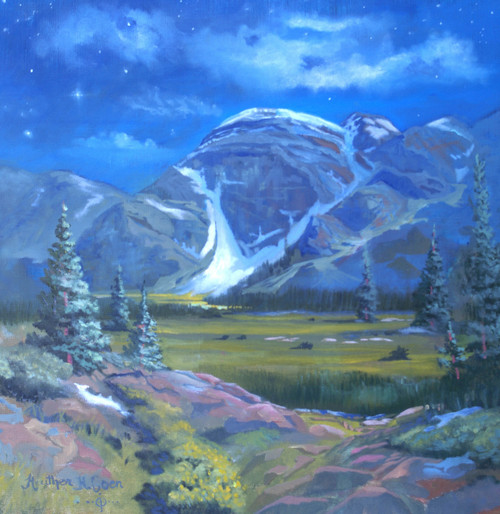 """Moondance Meadows"" Heather Coen 18x18"