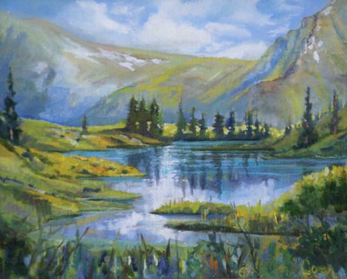 """""""Alpine Ridge Pond"""" Heather Coen 8x10"""