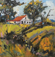 """Top of the Hill"" Dawn Normali 20x20"