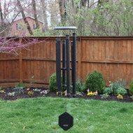This Arabesque® AR406 chime in Onyx is a hand-tuned, premium product whose melodies will delight you every day, and it will surely attract the attention of anyone visiting your lawn or garden. Colors available: Emerald, Garnet, Onyx, Sapphire.