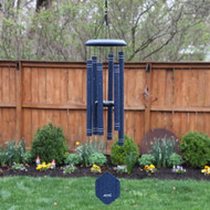 This Arabesque® AR306 chimes in Sapphire are a hand-tuned, premium product whose melodies will delight you every day, and it will surely attract the attention of anyone visiting your lawn or garden. Colors available: Emerald, Garnet, Onyx, Sapphire.