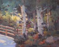 """Estes Aspen"" Margaret Jensen Oil, 8x10"