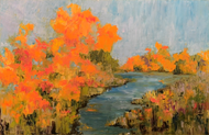 """Beyond the River's Bend"" Dawn Reinfeld 30x48"