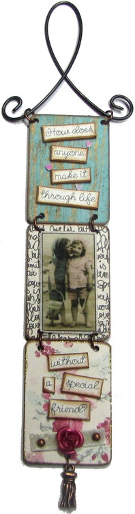 """""""Without a Friend"""" Triptych by Jennifer Coniff  """"How does anyone make it through life...without a special friend"""