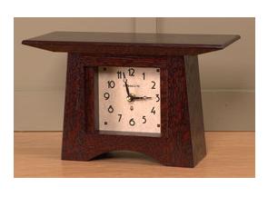 Craftsman Mantel Clock with Craftsman Oak Finish 10w x 5.5h x 4d