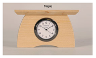 Mini Mantel Clock in Maple 2.25w x 2.75h x 1.25d