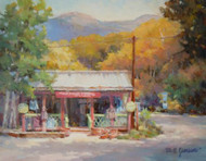 "Original painting by Margaret Jensen, ""Arroyo Seco Store"", Oil, 11x14"