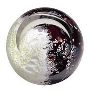 """""""Mercury"""" glass paperweight handmade by Glass Eye Studio."""