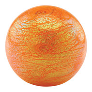 """Sun"" glass paperweight handmade by Glass Eye Studio."