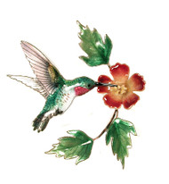 Hummingbird with Trumpet Flower by Bovano of Cheshire Metal
