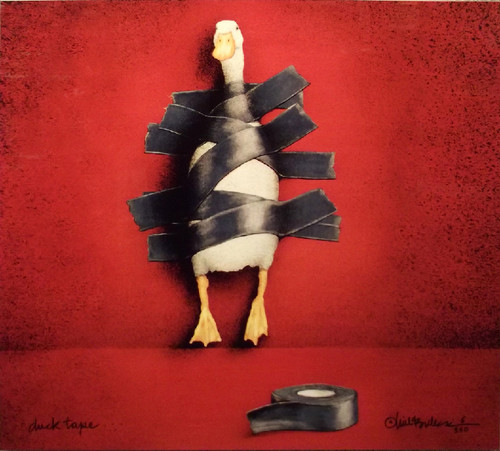 """Duck Tape"" Metal Print by Will Bullas"