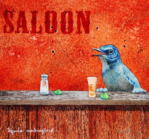 """Tequila Mockingbird"" Metal Print by Will Bullas"