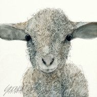 "Limited edition giclée print on canvas by Sarah Rogers, ""Wingnut"", 12x12"
