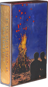 "Houston Llew Spiritile #142, ""Kindling""- Molten glass over copper art."