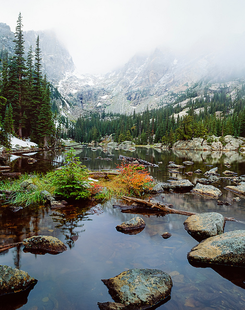 """A Dream Moment - Dream Lake"" Photograph by Colorado photographer James Frank. This photograph was taken near Dream Lake in Rocky Mountain National Park, Colorado, USA."
