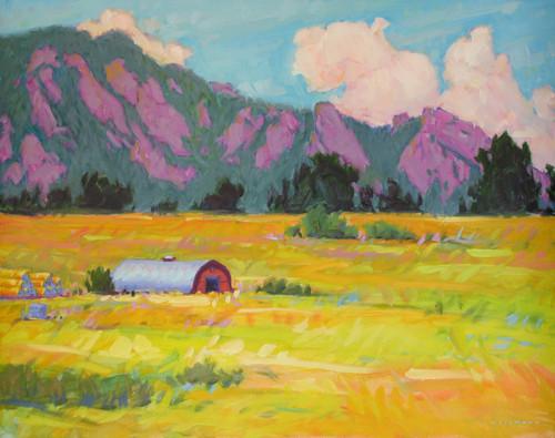 "Original painting by Maggie Renner Hellmann, ""Flatiron Country"", Oil, 24x30"