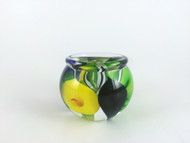 """""""Mini Calla Lily Vase in Blue, Green, and Yellow"""" by Scott Bayless."""