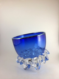 """""""Small Thorn Vessel in Cobalt and Silver"""" by Andrew Madvin."""
