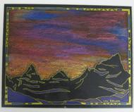 """Evening Over San Juan Range"" by Lou Renner 11x14"