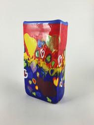 """Small Rectangle Vase in Love""  by Michael Maddy & Rina Fehrensen, Mad Art Studio"