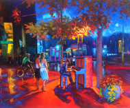 """Original oil painting on canvas by Stanislav Sidorov, """"Autumn Nocturne"""" 24x30"""