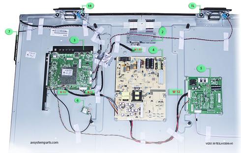 TV Vizio 39 Tesla E500i-A1 Parts:705TXDSM034,715G5670-P03 ...