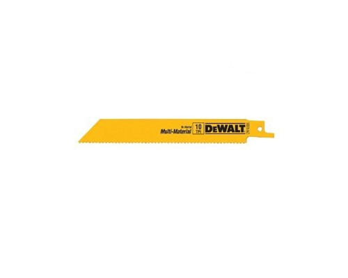 """DeWALT DW4802 Bi-Metal Recipro Saw Blades 150mm (6"""") x 6 TPI (5x)"""