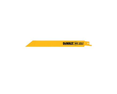 "DeWALT DW4809 Bi-Metal Recipro Saw Blades 200mm (8"") x 14 TPI (5x)"