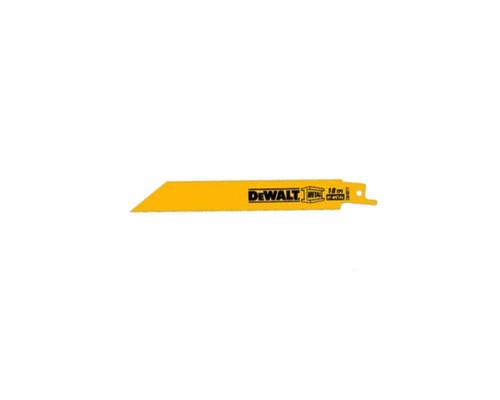 """DeWALT DW4811 Bi-Metal Recipro Saw Blades 150mm (6"""") x 18 TPI (5x)"""