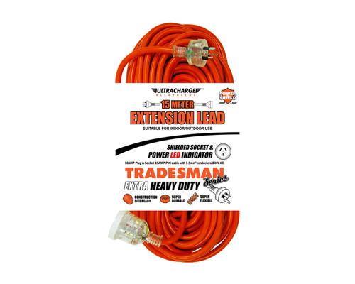 PowerDC UR240/15T Ultracharge Extension Lead Tradesman Heavy Duty 15m
