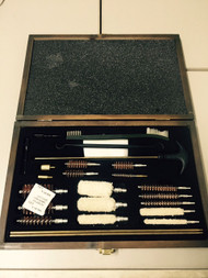 Multi GUN Cleaning KIT 24 Piece Wooden Carry Case NEW