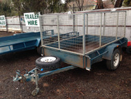 8 x 5 Cage Trailer - Single Axel