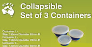 Set of 3 containers w/lid