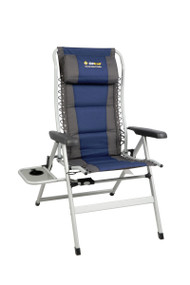 OZtrail Cascade Deluxe 8 Position Recliner Chair with Side Table