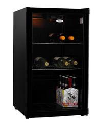 HELLER 115L Black Beverage Cooler