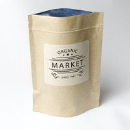 Kraft Pouch with Compostable Sugarcane Label