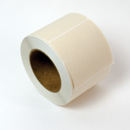 "3.5"" x 3.5"" Square Labels, Compostable Sugarcane, 3"" Core [500 Labels]"