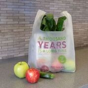 Compostable T-Sack Shopping Bag, 1000 Years, SUPER STRONG 1.0 MIL Thick [500 Bags]
