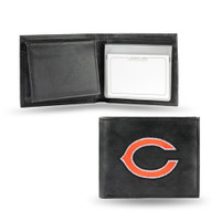 Chicago Bears Embroidered Billfold Leather Wallet
