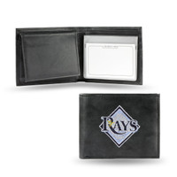 Tampa Bay Rays Embroidered Billfold Leather Wallet