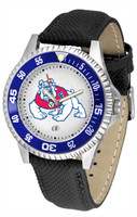 Fresno State Bulldogs Competitor Leather Watch White Dial