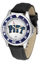 Pittsburgh Panthers Competitor Leather Watch White Dial