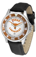 Texas Longhorns Competitor Leather Watch White Dial