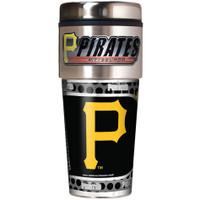 Pittsburgh Pirates 16oz Travel Tumbler with Metallic Wrap Logo