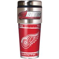 Detroit Red Wings 16oz Travel Tumbler with Metallic Wrap Logo