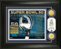 **Carolina Panthers 2016 NFC Champions 2pc Gold Coin Photo Mint LE 2,016